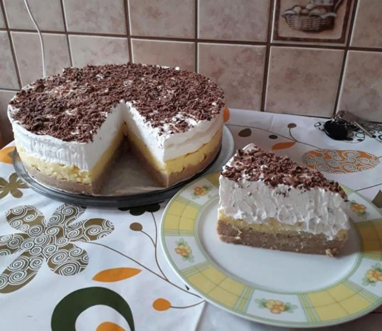 Gesztenyés habos, krémes torta – Sütés nélkül