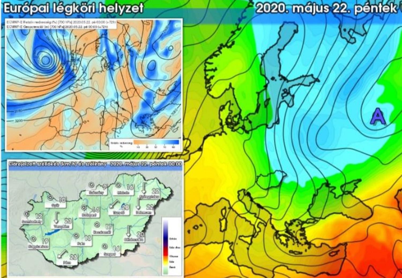A hidegrekord is megdőlhet: sarkvidéki eredetű légtömeg tart hazánk felé
