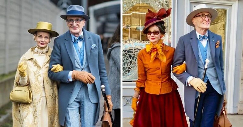 Egy igazán stílusa idős német házaspár